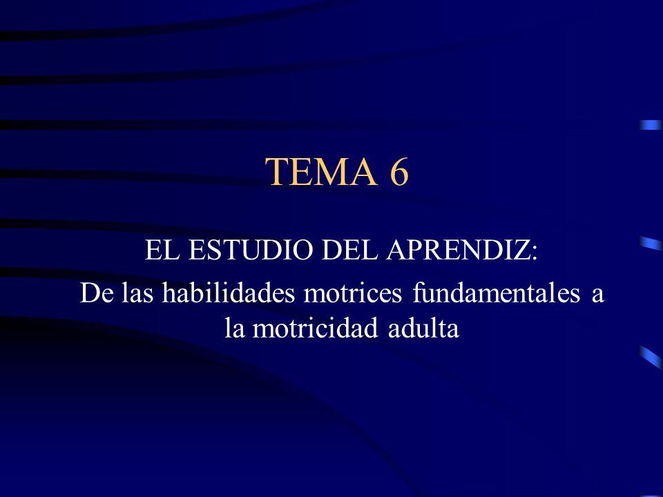 TEMA 6 EL ESTUDIO DEL APRENDIZ: