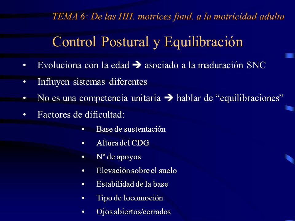 Control Postural y Equilibración