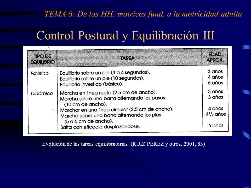 Control Postural y Equilibración III