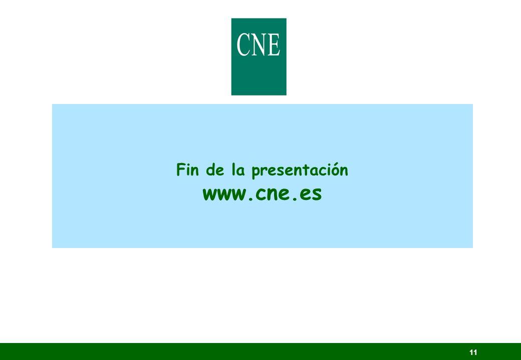 Fin de la presentación www.cne.es