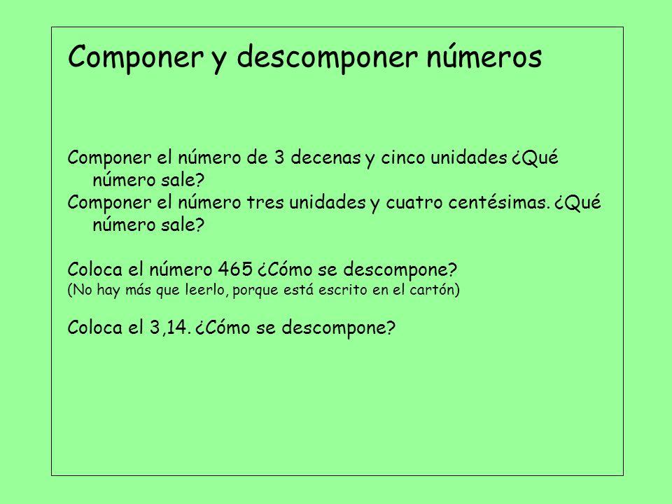 Componer y descomponer números