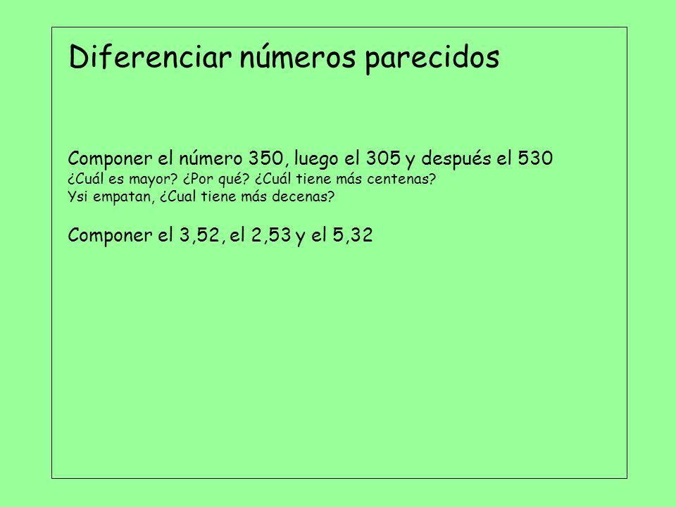 Diferenciar números parecidos