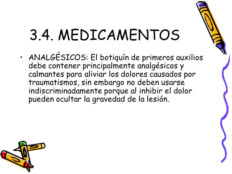 3.4. MEDICAMENTOS