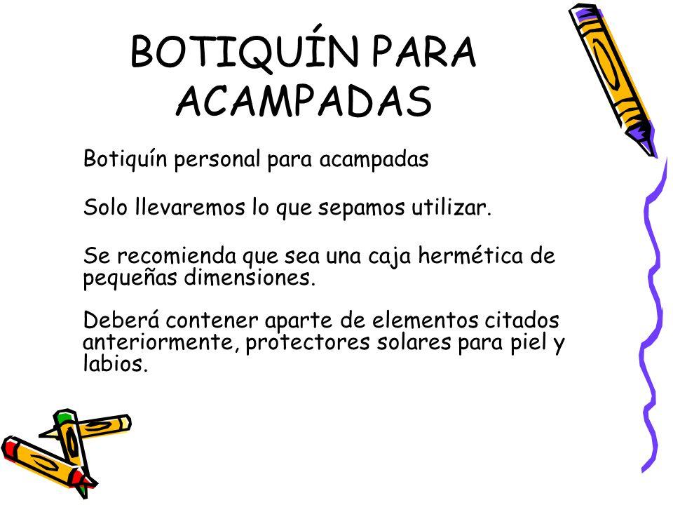 BOTIQUÍN PARA ACAMPADAS