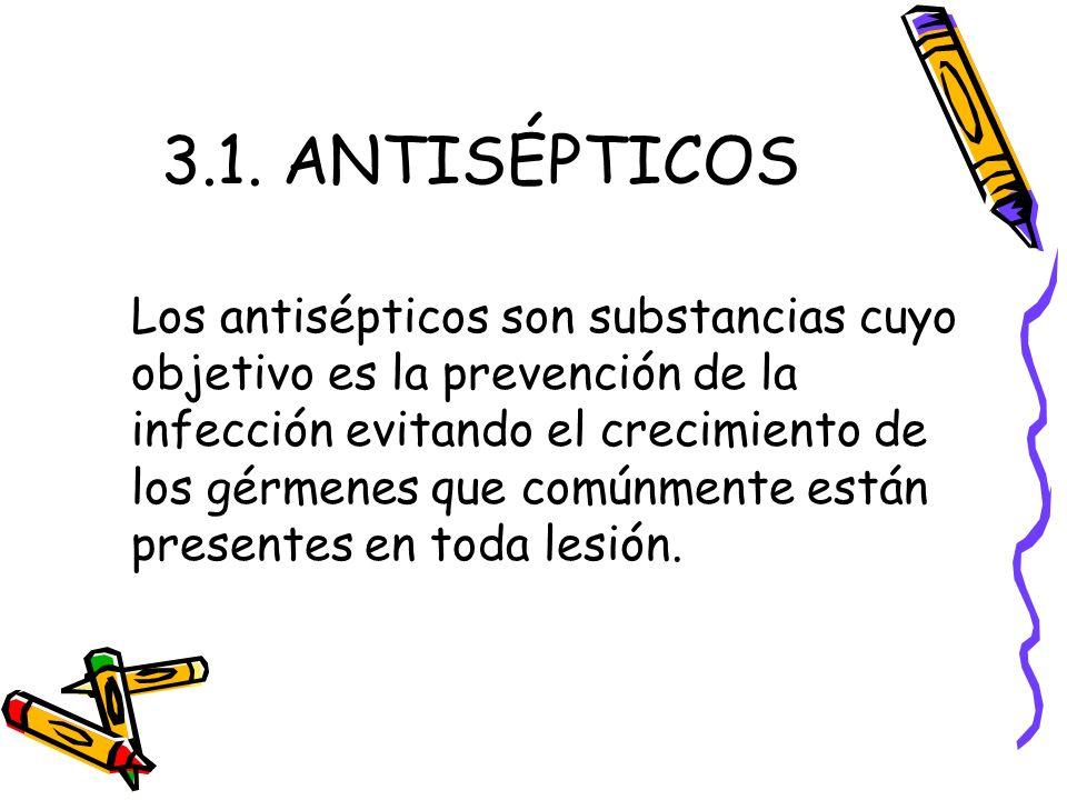 3.1. ANTISÉPTICOS