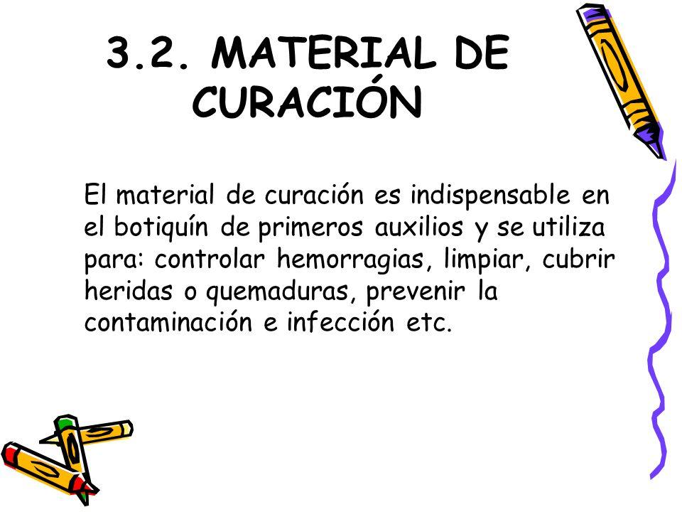 3.2. MATERIAL DE CURACIÓN