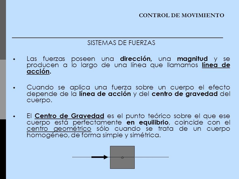 CONTROL DE MOVIMIENTO SISTEMAS DE FUERZAS.