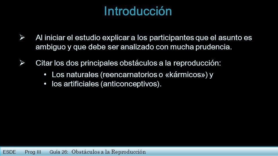 Introducción Al iniciar el estudio explicar a los participantes que el asunto es ambiguo y que debe ser analizado con mucha prudencia.