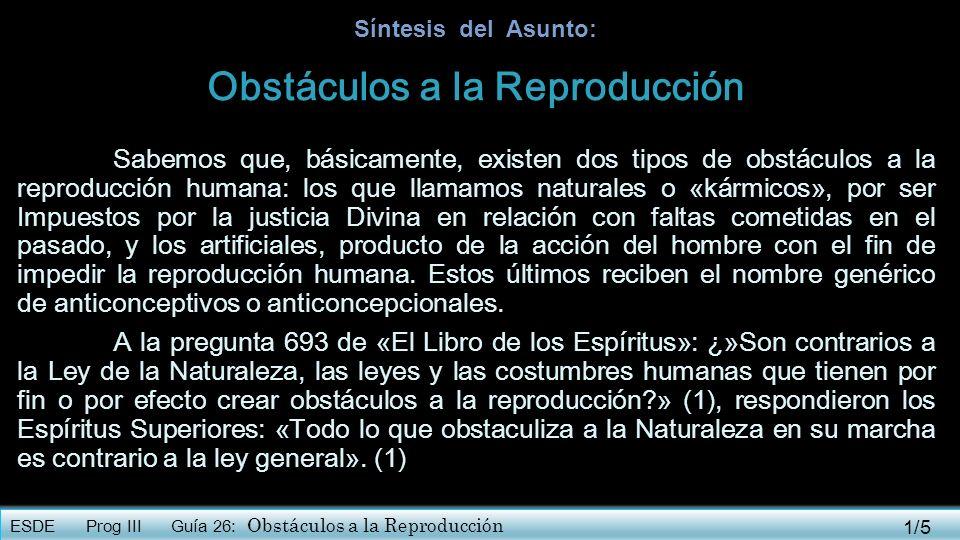 Obstáculos a la Reproducción