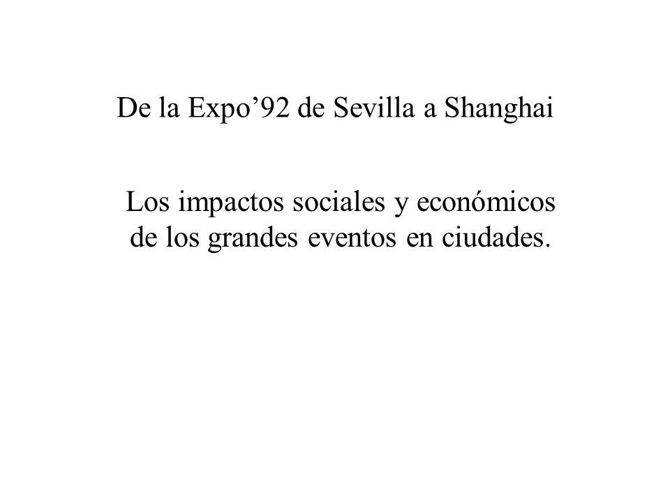 De la Expo'92 de Sevilla a Shanghai