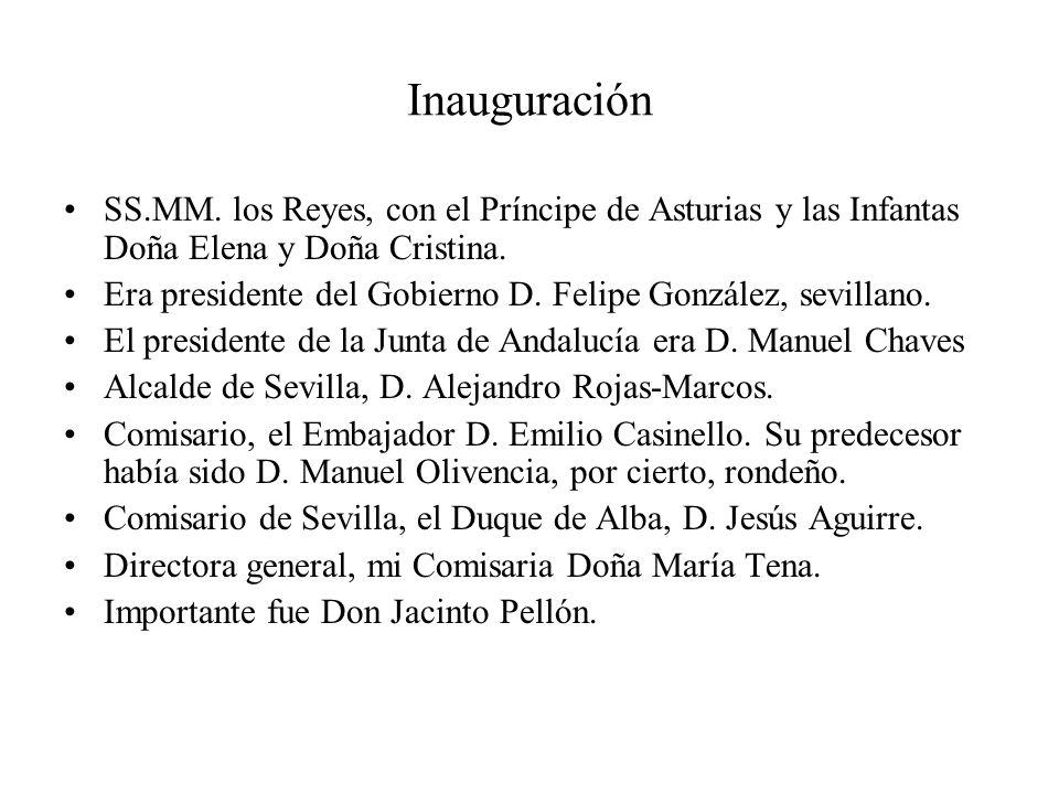 Inauguración SS.MM. los Reyes, con el Príncipe de Asturias y las Infantas Doña Elena y Doña Cristina.