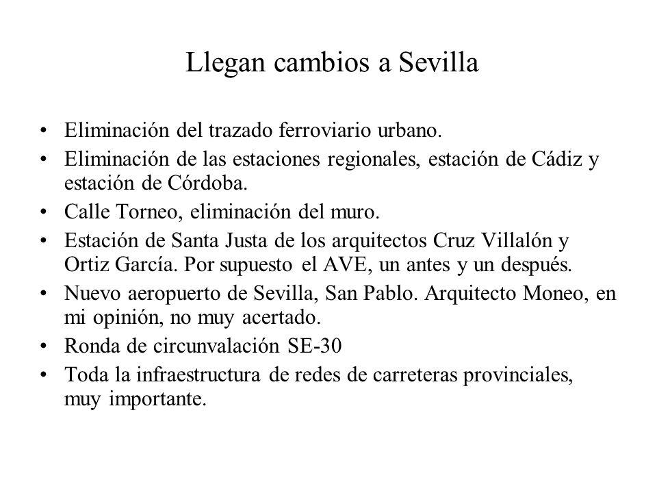 Llegan cambios a Sevilla