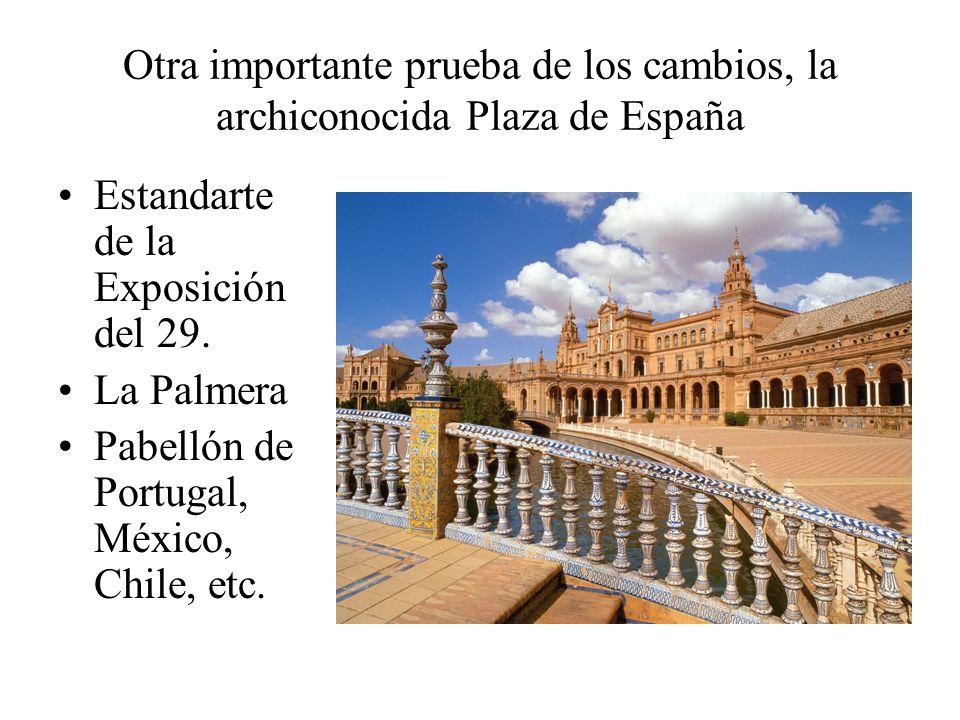 Otra importante prueba de los cambios, la archiconocida Plaza de España