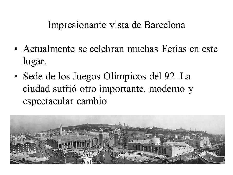 Impresionante vista de Barcelona