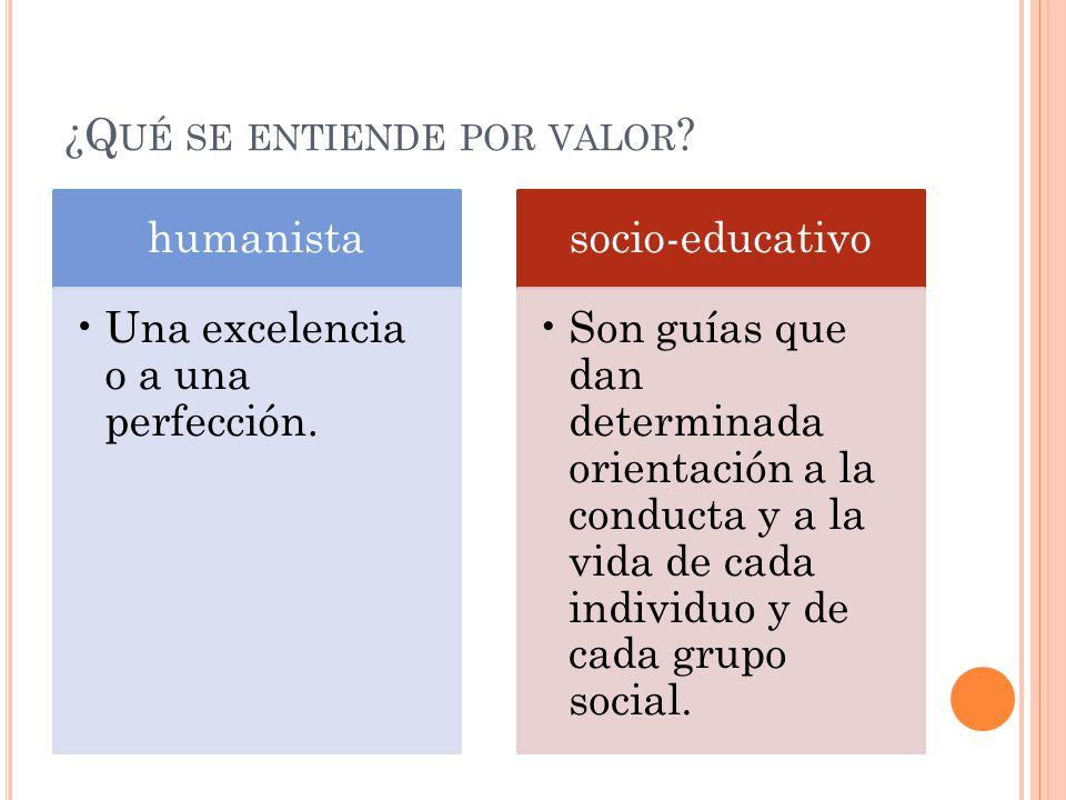83 los valores y su significadoqu se entiende por valor for Que se entiende por arquitectura