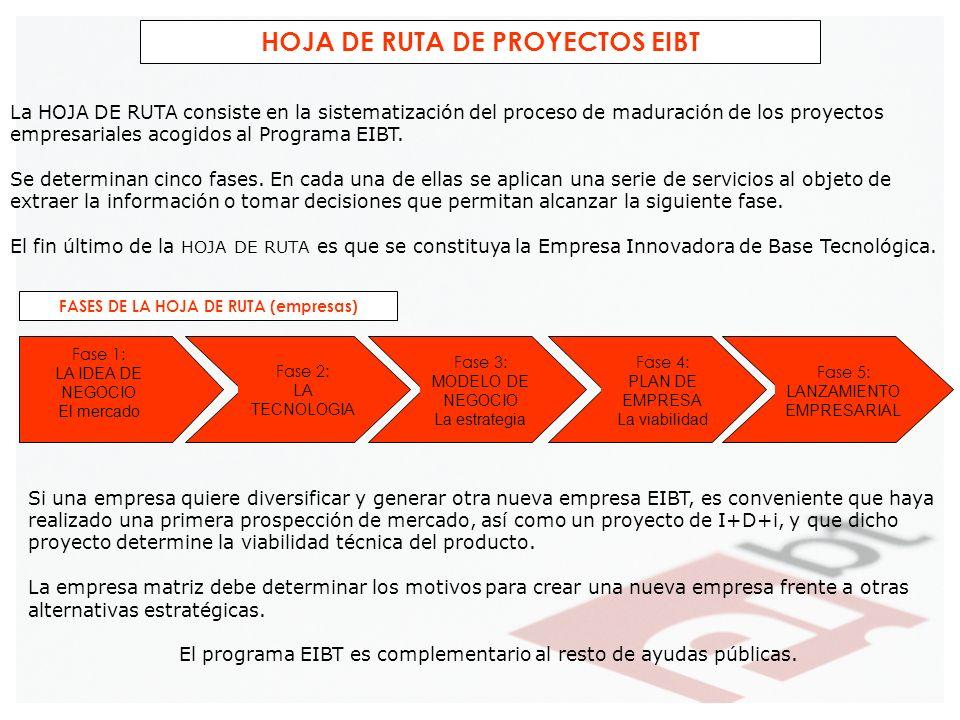 HOJA DE RUTA DE PROYECTOS EIBT