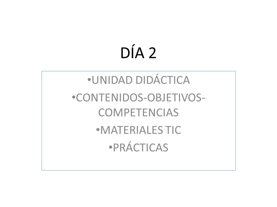 CONTENIDOS-OBJETIVOS-COMPETENCIAS