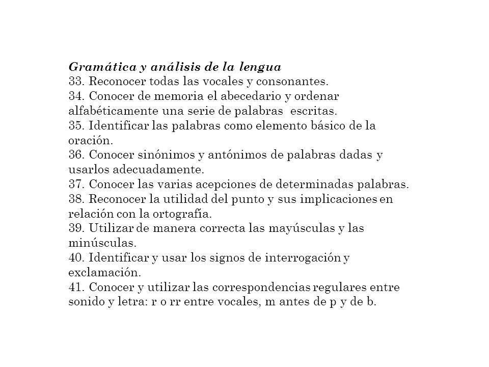 Gramática y análisis de la lengua