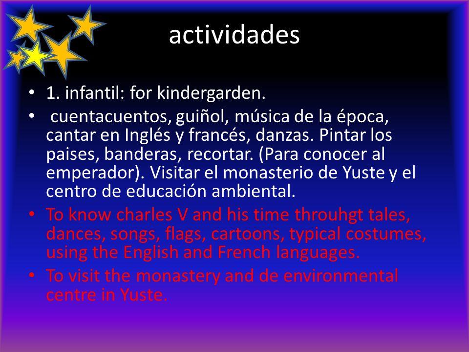 actividades 1. infantil: for kindergarden.
