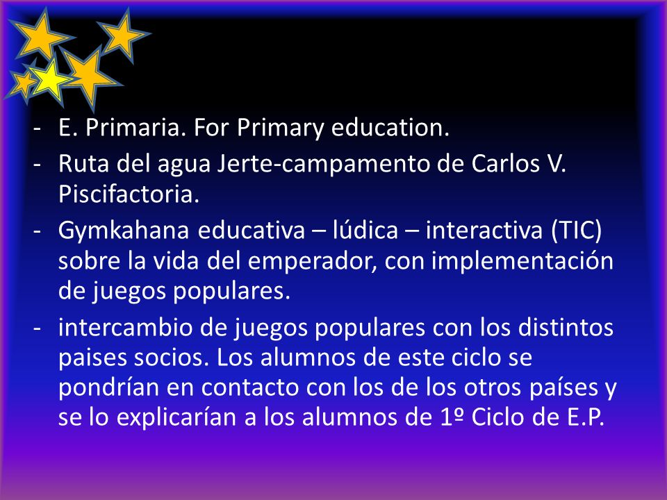 actividades E. Primaria. For Primary education.