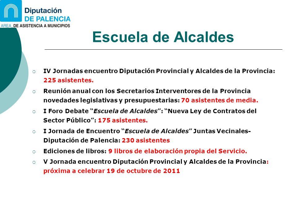 Escuela de Alcaldes IV Jornadas encuentro Diputación Provincial y Alcaldes de la Provincia: 225 asistentes.