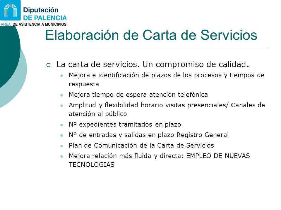 Elaboración de Carta de Servicios