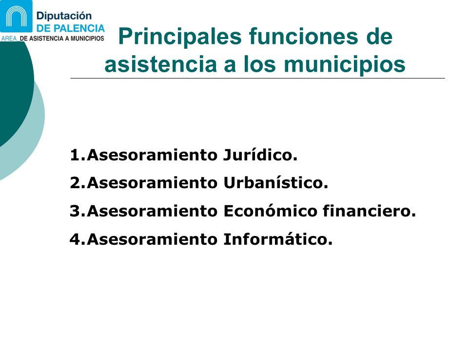 Principales funciones de asistencia a los municipios