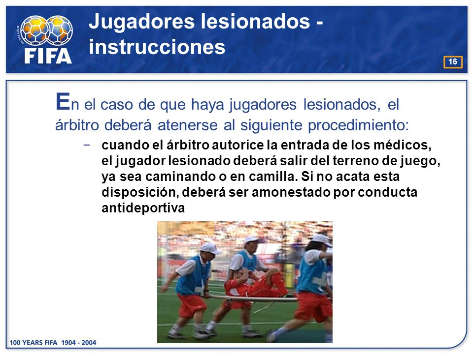 Jugadores lesionados - instrucciones