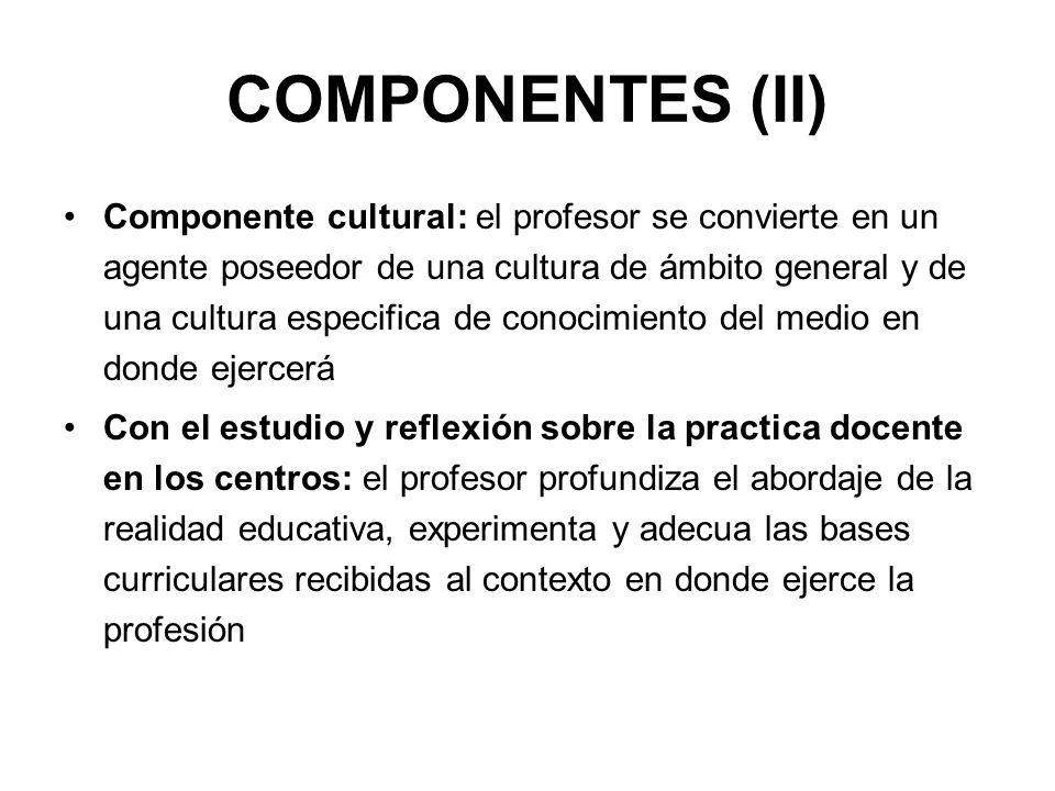 COMPONENTES (II)