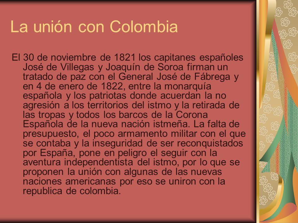 La unión con Colombia
