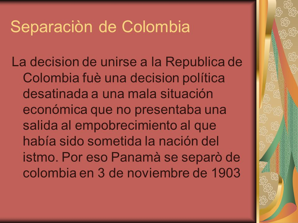 Separaciòn de Colombia