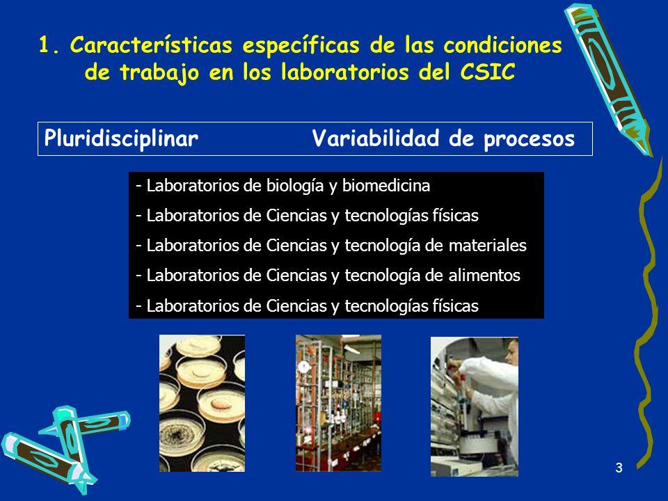1. Características específicas de las condiciones