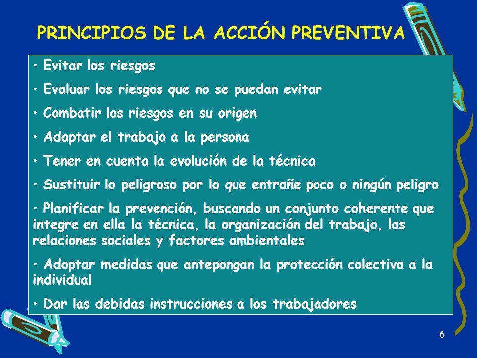 PRINCIPIOS DE LA ACCIÓN PREVENTIVA