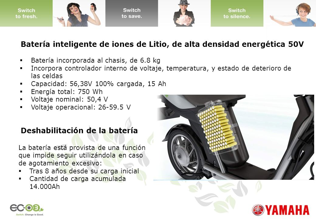 Batería inteligente de iones de Litio, de alta densidad energética 50V