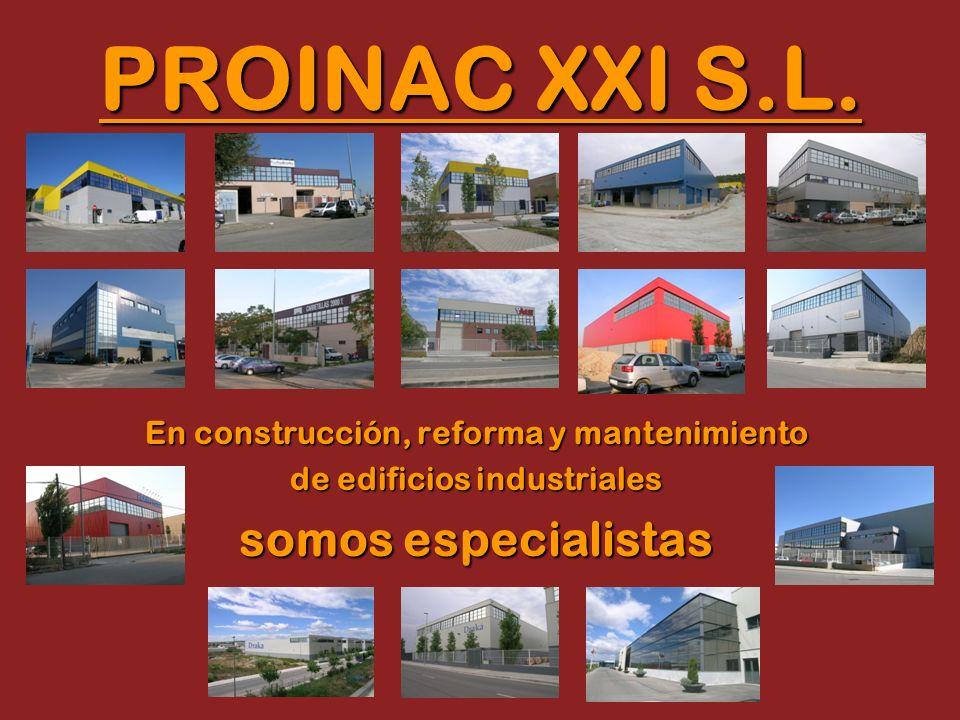 En construcción, reforma y mantenimiento