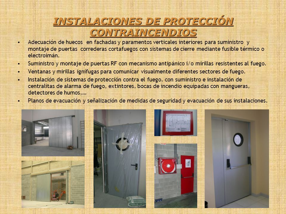 INSTALACIONES DE PROTECCIÓN CONTRAINCENDIOS