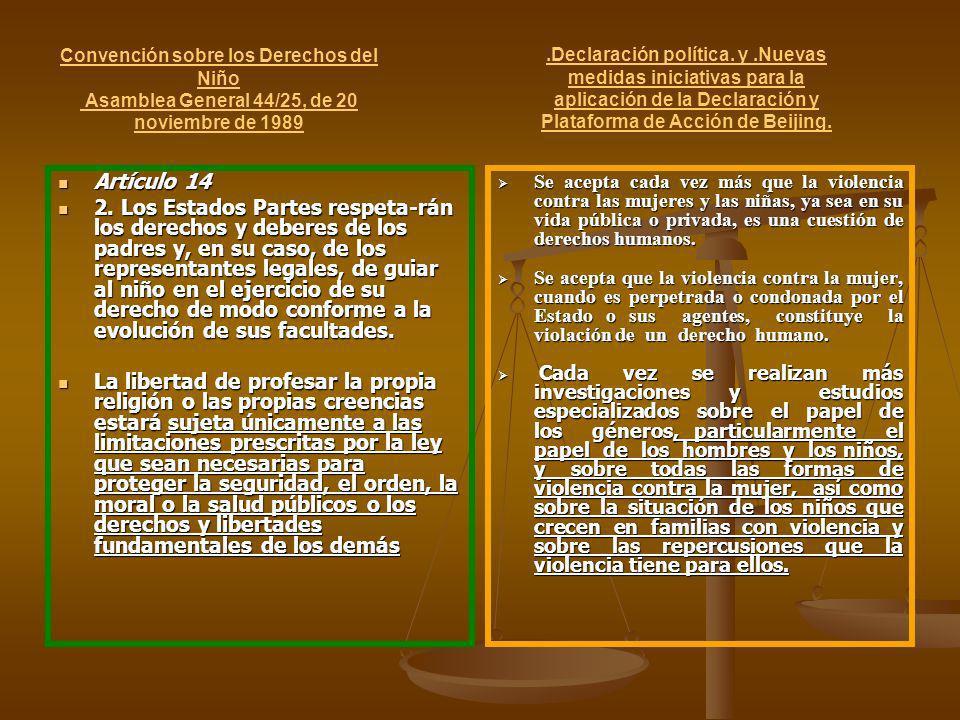 Convención sobre los Derechos del Niño Asamblea General 44/25, de 20 noviembre de 1989