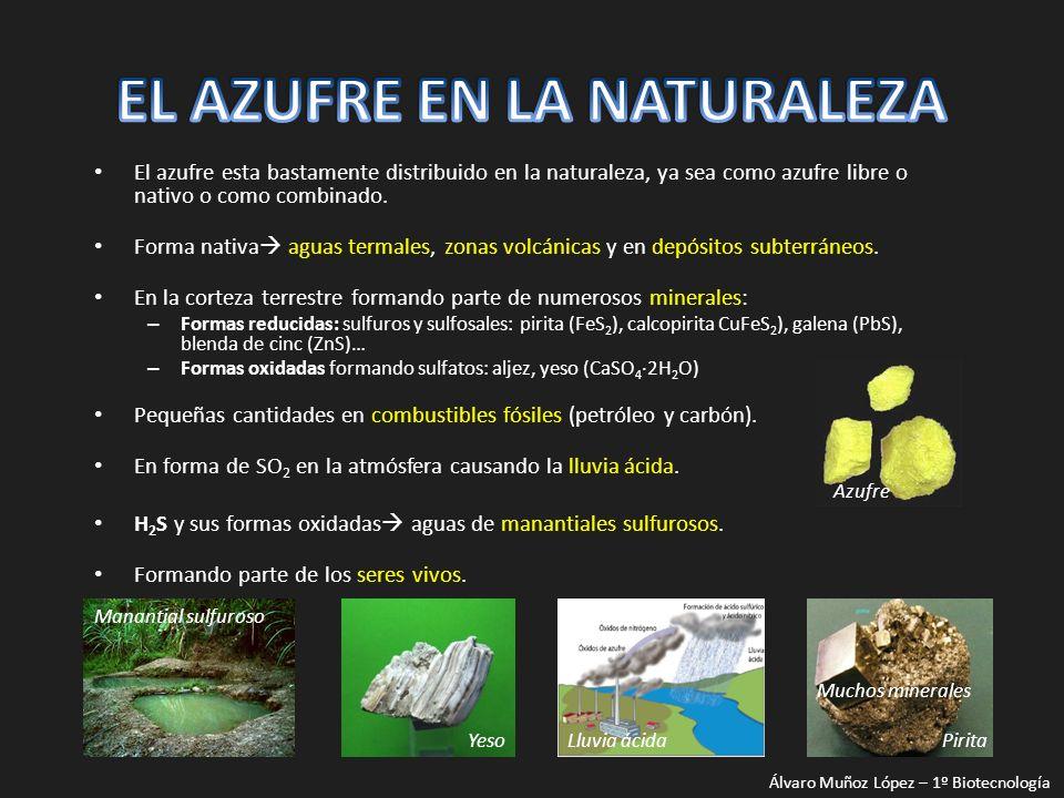 EL AZUFRE EN LA NATURALEZA