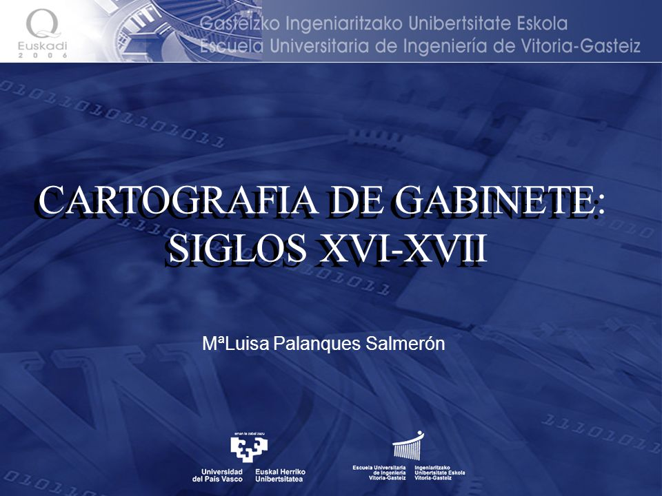 CARTOGRAFIA DE GABINETE: