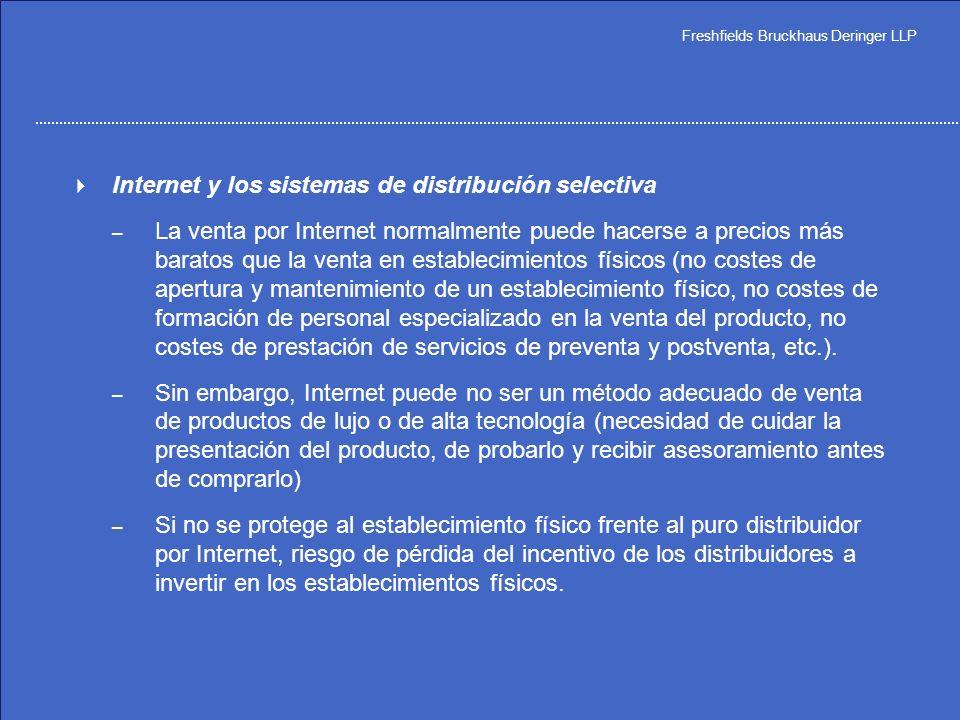 Internet y los sistemas de distribución selectiva