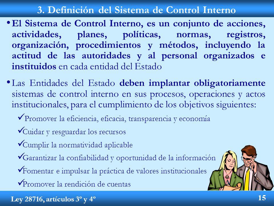 3. Definición del Sistema de Control Interno