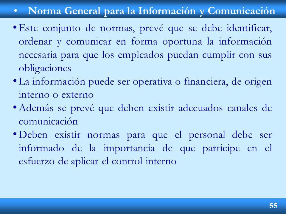 Norma General para la Información y Comunicación