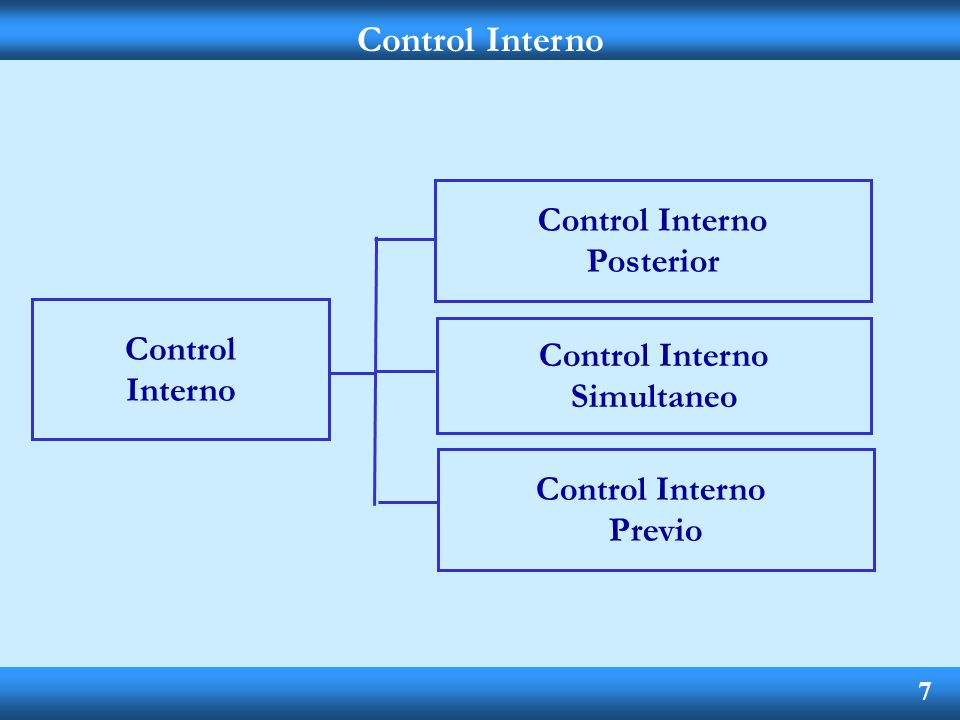 Control Interno Control Interno Posterior Control Control Interno