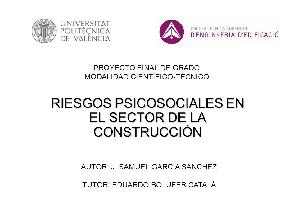 RIESGOS PSICOSOCIALES EN EL SECTOR DE LA CONSTRUCCIÓN