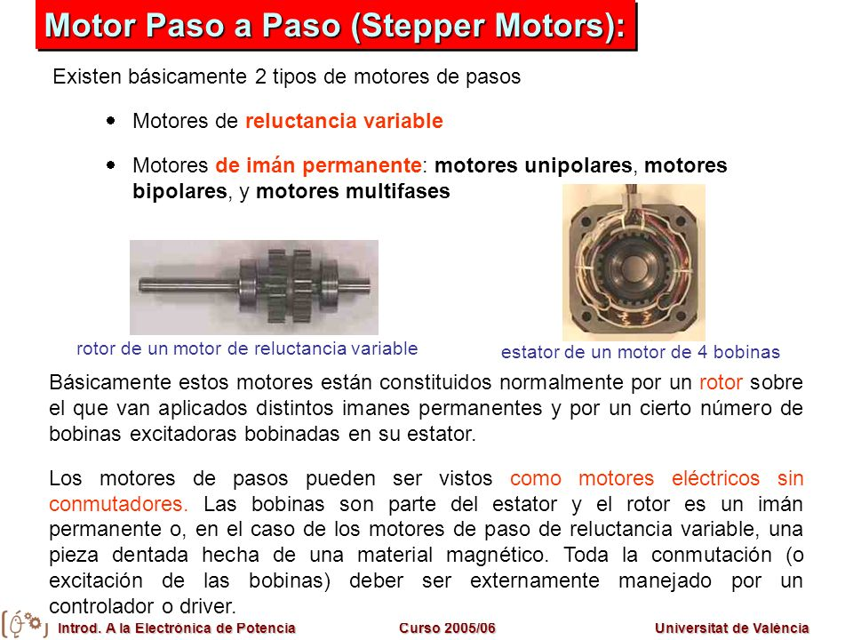 Motor Paso a Paso (Stepper Motors):