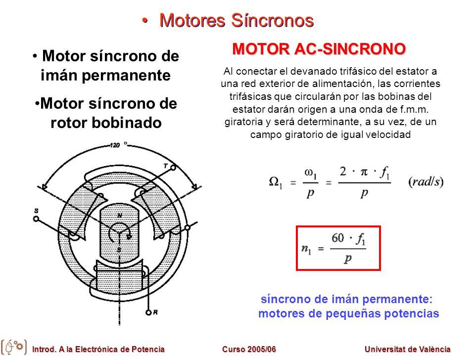 Motores Síncronos MOTOR AC-SINCRONO Motor síncrono de imán permanente