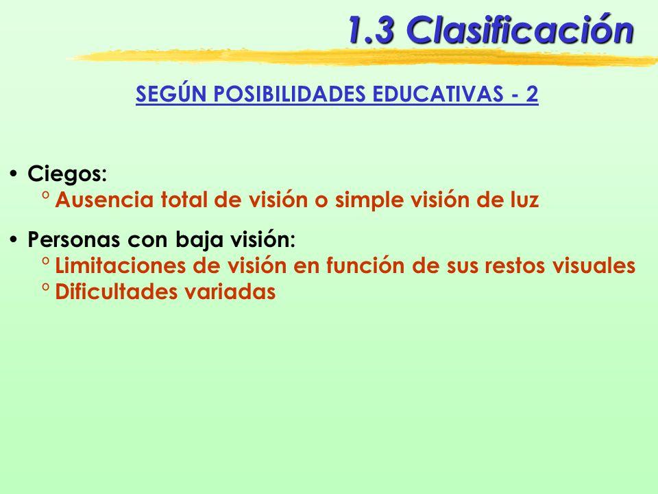 SEGÚN POSIBILIDADES EDUCATIVAS - 2