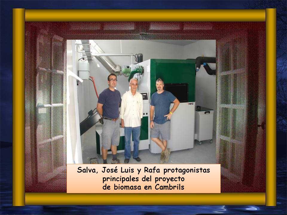 Salva, José Luis y Rafa protagonistas principales del proyecto