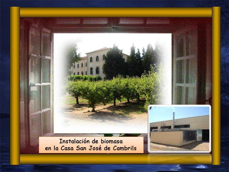 Instalación de biomasa en la Casa San José de Cambrils