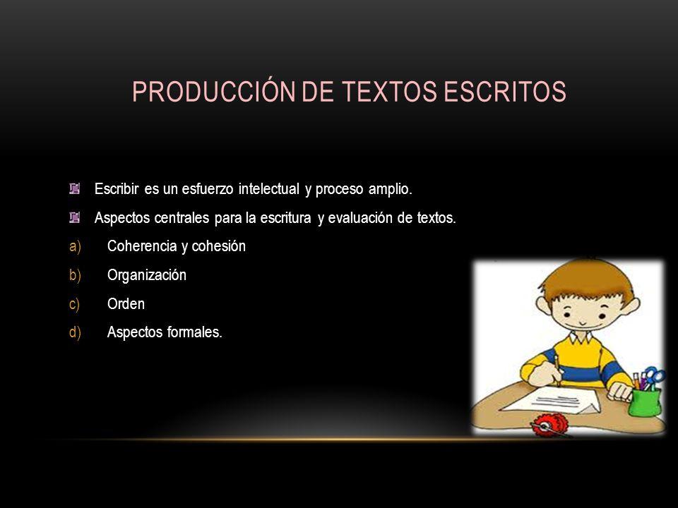 PRODUCCIÓN DE TEXTOS ESCRITOS